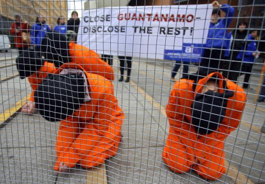 Amnesty International activists protest