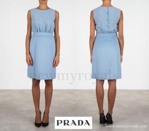 Prada Light Angora And Cady Dress