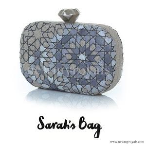 Crown Princess Mette Marit style Sarah's Bag Arabesque Silver Clutch www.newmyroyals.com